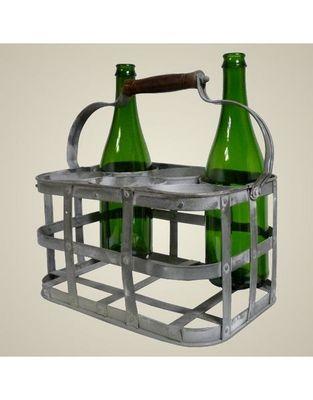 L'HERITIER DU TEMPS - Porte-bouteilles-L'HERITIER DU TEMPS-Porte bouteilles en fer 6 cases