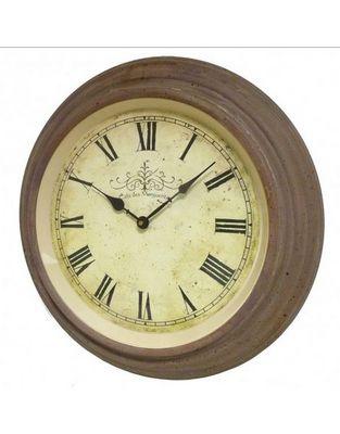 L'HERITIER DU TEMPS - Horloge murale-L'HERITIER DU TEMPS-Horloge murale fer bordeaux 45 cm