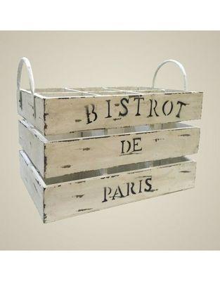 L'HERITIER DU TEMPS - Casier de rangement-L'HERITIER DU TEMPS-Casier à Bouteilles Blanchi