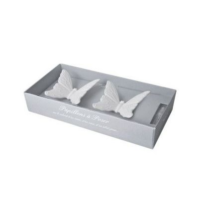 Mathilde M - Céramique parfumée-Mathilde M-Ambiance parfumée - Coffret 2 Papillons en biscuit