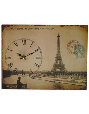 L'HERITIER DU TEMPS - Horloge murale-L'HERITIER DU TEMPS-Pendule Carte Postale Paris