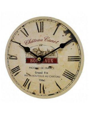 L'HERITIER DU TEMPS - Horloge murale-L'HERITIER DU TEMPS-Mini Horloge Style Industriel Bois 16,5cm