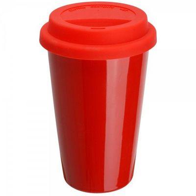 La Chaise Longue - Mug isotherme-La Chaise Longue-Mug porcelaine isotherme rouge