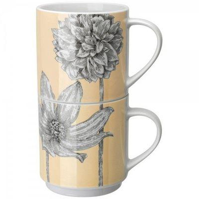 La Chaise Longue - Mug-La Chaise Longue-Set de 2 mugs botanica beige