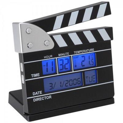 La Chaise Longue - Réveil matin-La Chaise Longue-Réveil thermomètre Clap de cinéma