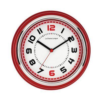 La Chaise Longue - Pendule murale-La Chaise Longue-Horloge boston rouge