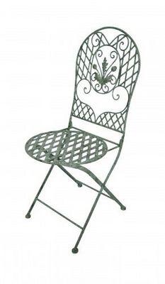Demeure et Jardin - Chaise de jardin-Demeure et Jardin-Chaise  en fer forgé collection chêne