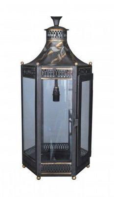 Demeure et Jardin - Lanterne d'extérieur-Demeure et Jardin-Lanterne électrifiée en tôle peinte