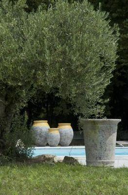 TERRES D'ALBINE - Jarre-TERRES D'ALBINE-Jarres Olive Patine Classique