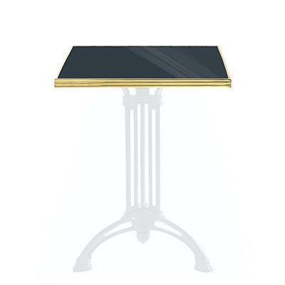 Ardamez - Plateau de table bistrot-Ardamez-Plateau de table de bistrot émaillée / anthracite