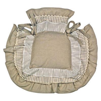 Interior's - Galette de chaise-Interior's-Galette de chaise à volants