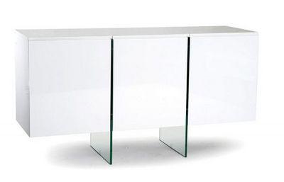 WHITE LABEL - Buffet bas-WHITE LABEL-Buffet design SCOOP blanc