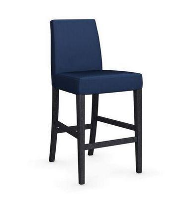 Calligaris - Chaise haute de bar-Calligaris-Chaise de bar LATINA de CALLIGARIS bleue et hêtre