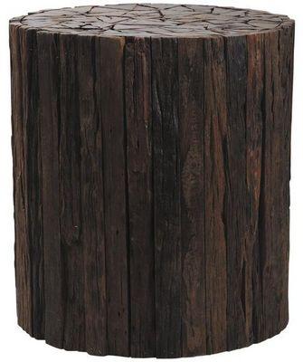 Aubry-Gaspard - Tabouret-Aubry-Gaspard-Tabouret rondin de bois