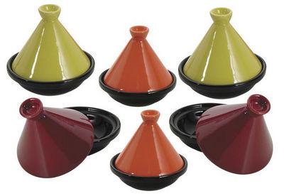 Aubry-Gaspard - Plat � tajine-Aubry-Gaspard-6 Mini Tajines en C�ramique 10cm