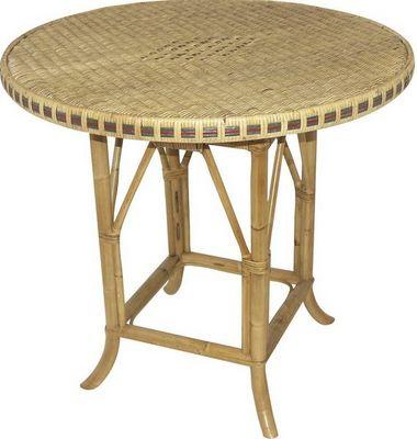 Aubry-Gaspard - Table de jardin ronde-Aubry-Gaspard-Table rotin