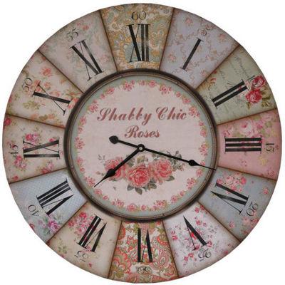 Antic Line Creations - Horloge murale-Antic Line Creations-Pendule murale Shabby Chic
