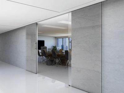 Mantion - Porte de communication vitr�e-Mantion-La porte en verre coulissante et esth�tique