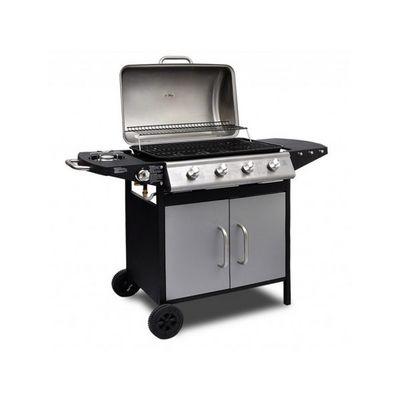 WHITE LABEL - Barbecue au gaz-WHITE LABEL-Barbecue � gaz 4 br�leurs avec thermom�tre