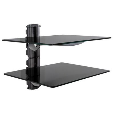 WHITE LABEL - Meuble tv hi fi-WHITE LABEL-�tag�re support mural pour DVD console