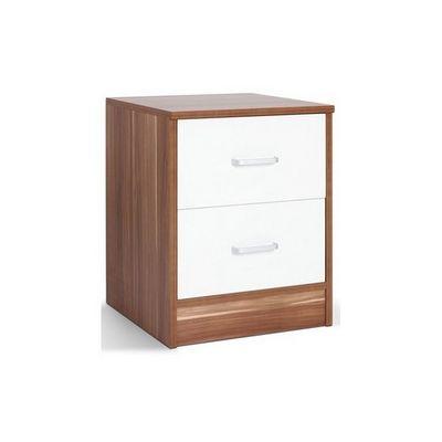 WHITE LABEL - Table de chevet-WHITE LABEL-Table de nuit chevet avec tiroir