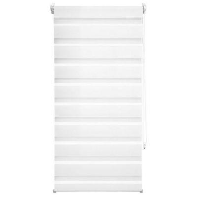 WHITE LABEL - Store enrouleur-WHITE LABEL-Store enrouleur blanc 56 x 120 cm
