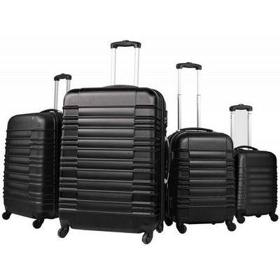 WHITE LABEL - Valise � roulettes-WHITE LABEL-Lot de 4 valises bagage ABS noir