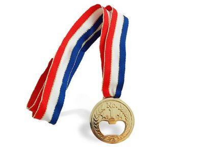 WHITE LABEL - Décapsuleur-WHITE LABEL-Médaille ouvre-bouteilles deco maison ustensile cu