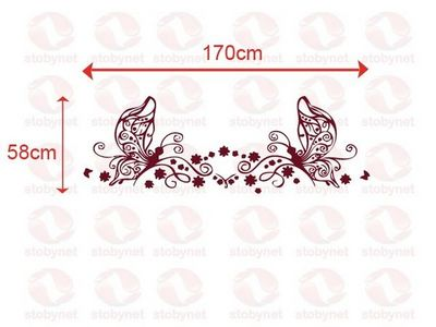 WHITE LABEL - Sticker-WHITE LABEL-Sticker Papillon