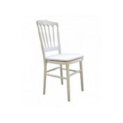 DECO PRIVE - Chaise-DECO PRIVE-Chaise Napoléon 3 blanche (tarif pro sur demande)