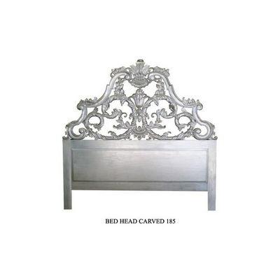DECO PRIVE - T�te de lit-DECO PRIVE-T�te de lit 200 cm en bois argent� Mod�le Carved