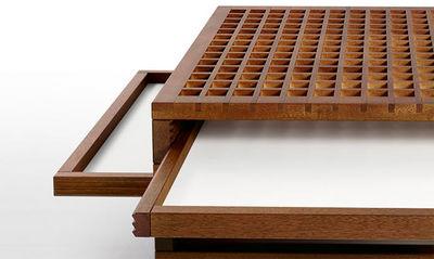 SCULPTURES JEUX - Table basse avec plateau escamotable-SCULPTURES JEUX-Tetra