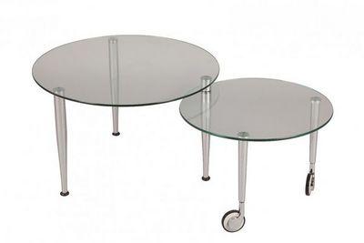 WHITE LABEL - Table basse forme originale-WHITE LABEL-Table basse EIGHT en verre transparent