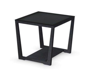 WHITE LABEL - Table basse carrée-WHITE LABEL-Table basse ELEMENT de CALLIGARIS graphite avec pl