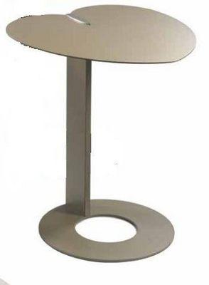 WHITE LABEL - Bout de canapé-WHITE LABEL-Bout de canapé COEUR design taupe.