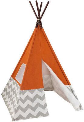 KidKraft - Tente enfant-KidKraft-Tente Tipi Orange pour enfant 109x176cm
