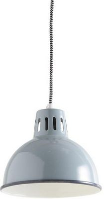 Aubry-Gaspard - Suspension-Aubry-Gaspard-Lampe vintage Suspension en m�tal laqu� Gris vert
