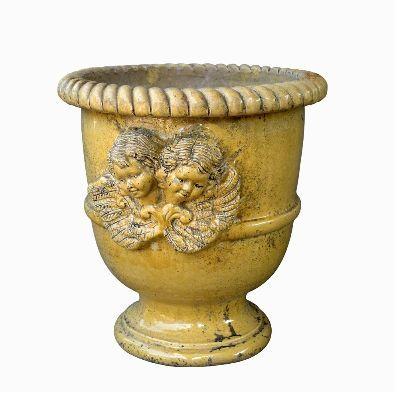 vase languedocien pot de jardin jaune terres d 39 albine. Black Bedroom Furniture Sets. Home Design Ideas