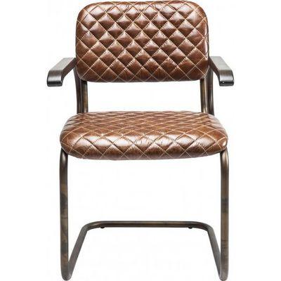Kare Design - Chaise-Kare Design-Chaise avec accoudoirs Cantilever marron