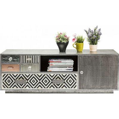 Kare Design - Meuble tv hi fi-Kare Design-Meuble TV Chalet 1 porte, 5 tiroirs