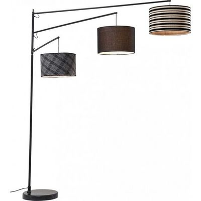 Kare Design - Lampadaire-Kare Design-Lampadaire Lemming Tree noir et blanc
