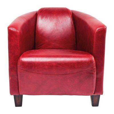 Kare Design - Fauteuil-Kare Design-Fauteuil Cuir Cigar Lounge rouge
