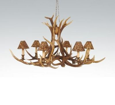 CLOCK HOUSE FURNITURE - Lustre-CLOCK HOUSE FURNITURE-Chandelier - 6 Arm Red Deer