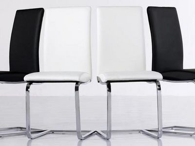 WHITE LABEL - Chaise réception-WHITE LABEL-Lot de 2 chaises VERONA beiges