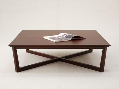 WHITE LABEL - Table basse rectangulaire-WHITE LABEL-Table basse carrée VARADERO - Bois clair