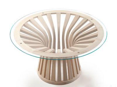 Cassina - Table de repas ronde-Cassina-390 LEBEAU WOOD