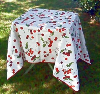 DECO REGIONS - Nappe rectangulaire-DECO REGIONS-Cerise enduite