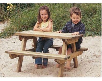 DECO-BOIS.COM - Table de jardin Enfant-DECO-BOIS.COM-Table enfants GARDEN