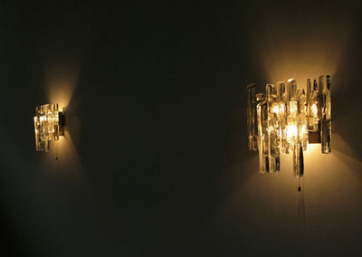 FURNITURE-LOVE.COM - Applique-FURNITURE-LOVE.COM-Pair of Kalmar glass sconces light sculpture