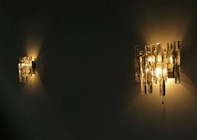 FURNITURE-LOVE.COM - Applique-FURNITURE-LOVE.COM-Pair of Kalmar glass sconces light sculpture